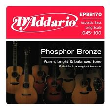 D'Addario EPBB170 Phosphor Bronze Acoustic Bass Strings Long Scale 45-100