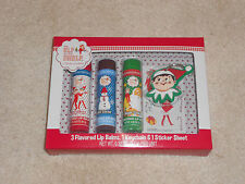 NEW, ELF ON THE SHELF LIP BALMS, KEYCHAIN, & STICKERS SET