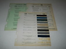 1940 PONTIAC PAINT CHIP CHART COLORS SHERWIN WILLIAMS PLUS MORE
