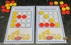 Board games/4 in a row STIMULATION game/Draughts board game~ALL SOLID counters