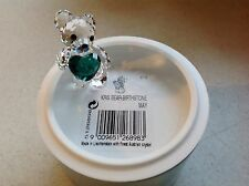 Swarovski Crystal Figurine 2015 BIRTHSTONE KRIS BEAR (MAY)