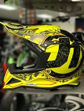 JUST 1 J12 Carbon Helmet Fluo Yellow Stamp L Large Carbon Fiber Motorcycle MX
