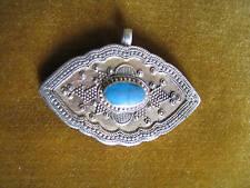 Pendentif-HOMOLOGUE-argent & turquoise-silver & turquoise-turkménistan-ANTIK
