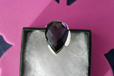 Beautiful 925 Silver Rings With African Amethyst  Gems Size P12  Gr.12.8 In Box