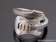 925 STERLING SILVER GUITAR RING ADJUSTABLE JEWELLERY