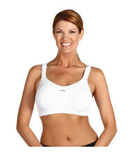 SHOCK ABSORBER MAX SUPPORT WIRE FREE SPORTS BRA #B4490 WHITE SIZE 32 C NEW! $69