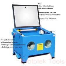 Sabbiatrice da tavolo 90L ottima per piccoli compressori cosuma aria di 200l/min