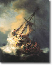 REMBRANDT Storm on the Sea of Galilee Canvas Giclee Art Print 10X8