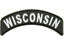 WISCONSIN STATE EMBROIDERED ROCKER BIKER PATCH