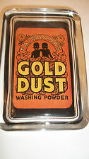 Gold Dust Washing Pwd Soap Advertising Sign Black Twin Logo GLASS PAPERWEIGHT