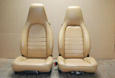 Porsche 911 964 Carrera Tan Sand Beige Leather Seats Pair LEFT RIGHT Factory OEM