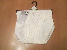 CLEARANCE Marks & Spencer cream & beige cotton mix with lace knickers size 14