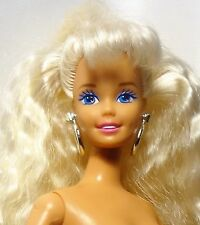 1994 Dance Moves Barbie Doll Poseable articulated Blonde Blue eyes Nude