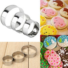 3Pcs Adjustable Stainless Steel Round Circle Cookie Cake Ring DIY Cutter Molds