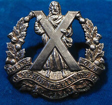 Canadian Forces BIRKS silver Queen's Own Cameron Highlanders of Canada cap badge