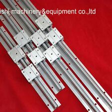 linear rail SBR20-1000/1400mm ( 4 supported rails + 8 SBR20UU blocks ) for CNC