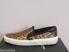 YSL Saint Laurent Womens Skate 20 Slip On Leopard Leather Sneakers $495 37 7
