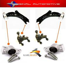 FITS VW GOLF MK5 2004  FRONT LOWER WISHBONE ARM BALLJOINTS & BUSH + BOLT KIT
