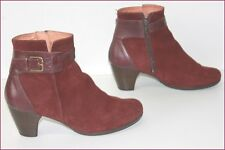WONDERS Bottines boots Nubuck Bordeaux T 37 TBE