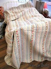 Gesteppte Wendetagesdecke Shabby Rose 180x260 NEU  Tagesdecke Baumwolle