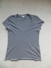 James PERSE Grigio Collo a V Made in USA T SHIRT