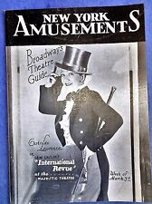 New York Amusement, Mar. 3, 1930 Broadway's Theatre Guide, B. Lahr-E.G. Robinson
