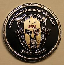 20th Special Forces Gp Airborne 2 BN A Co OEF 2009-10 ser#79 Army Challenge Coin