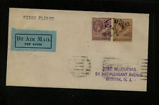 Antigua  52, 58 on first flight cover 1929       SSS1006