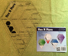 Jaybird Quilts ~ Hex N More Ruler ~ use for Disco, Day Break, Candy Dish, etc.