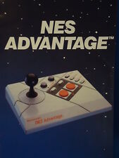 Nintendo NES ADVANTAGE INSTRUCTION MANUAL Rare video game vintage Collector's