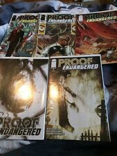 PROOF ENDANGERED #1,2,3,5. Image Comics - Alex Grecian story! Riley Rossmo art