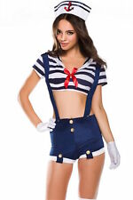 NEW Ninimour Marine Sailor Girl Strappy Boyshorts Costume with Hat XX-Large