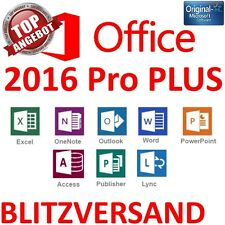 MS Microsoft Office 2016 Professional Plus • Vollversion Original Business • Pro