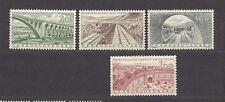 Czechoslovakia 1955 MNH **Mi  945-948 Sc 727-730 Railway, Socialist public works
