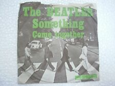 THE BEATLES PS parlophone something/come together RARE SINGLE 1969 YUGOSLAVIA VG