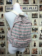 Authentic brandy melville john Galt Boho Red & gray Striped backpack NWT