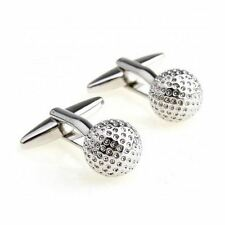 Polished Stainless Steel GOLF Ball Cufflinks with Gift Pouch