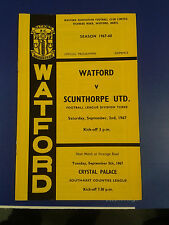 WATFORD VERSUS SCUNTHORPE UNITED, SEPT 2ND 1967, LG DIV 3