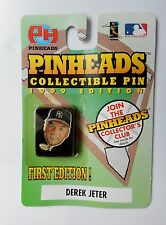 NIP DEREK JETER PINHEADS COLLECTIBLE PIN FIRST EDITION 1999 EDITION