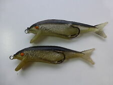 "LOT OF 2 SOFT MINNOW BAIT 3 1/2"" FISHING LURE TACKLE BOX FIND NICE L@@K"