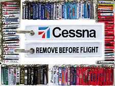 CESSNA Company Keyring keychain tag remove before flight part for pilot owner