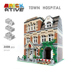 Lego Custom Modular Building ** TOWN HOSPITAL ** INSTRUCTIONS ONLY! instruction