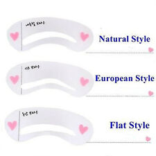 Women Girl Eyebrow Drawing Card Grooming Shaping Template Brow Make-Up Stencil