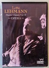 LOTTE LEHMANN MASTER CLASSES volume ii DVD includes insert