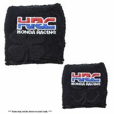 Large & Small Black HRC Brake & Clutch Reservoir Sock Cover Motorcycle Bike CBR