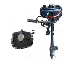 Professional 3.5HP OUTBOARD MOTOR 2 STROKE BOAT ENGINE w/ WATER COOLED SYSTEM