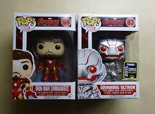 Funko POP Unmasked Iron Man & Grinning SDCC Avengers Age of Ultron Exclusive