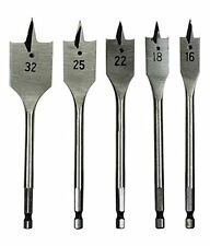 mm Flat Drill Bit Set For Wood (Set Of 6)