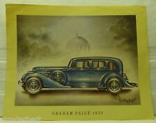 *- Classic CARS offset LITHOGRAPHIE 1969 - GRAHAM PAIGE 1932 -
