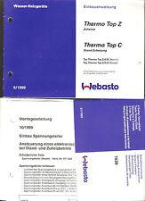 Betriebsanleitung Webasto Standheizung Bj. 1999 Thermo Top Wasser-Heizgerät